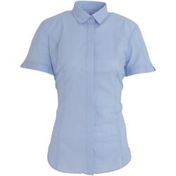 textil Dame Skjorter / Skjortebluser Brook Taverner BK133 Sky Blue