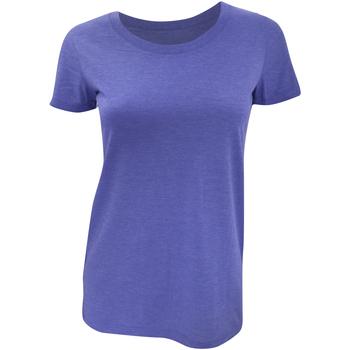 textil Dame T-shirts m. korte ærmer Bella + Canvas BE8413 Blue Triblend