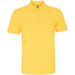 textil Herre Polo-t-shirts m. korte ærmer Asquith & Fox AQ010 Mustard