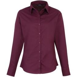 textil Dame Skjorter / Skjortebluser Premier PR300 Aubergine