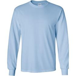 textil Herre Langærmede T-shirts Gildan 2400 Light Blue
