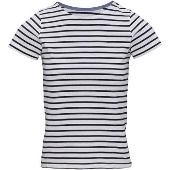 textil Dame T-shirts m. korte ærmer Asquith & Fox AQ073 White/Navy