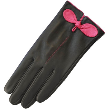 Accessories Dame Handsker Eastern Counties Leather  Black/Fuchsia