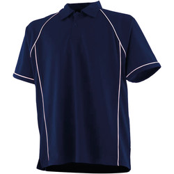textil Børn Polo-t-shirts m. korte ærmer Finden & Hales LV372 Navy/White