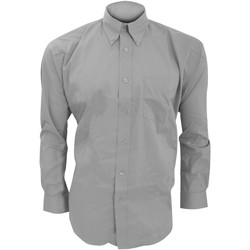 textil Herre Skjorter m. lange ærmer Kustom Kit KK105 Silver Grey