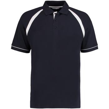 textil Herre Polo-t-shirts m. korte ærmer Kustom Kit KK615 Navy/White