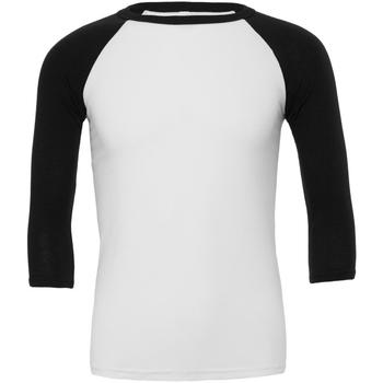 textil Herre Langærmede T-shirts Bella + Canvas CA3200 White/Black