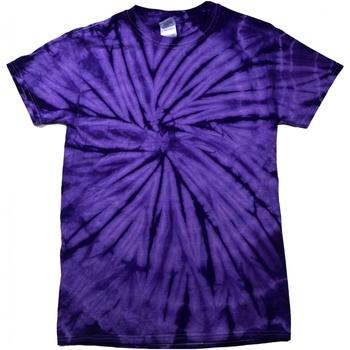textil T-shirts m. korte ærmer Colortone Tonal Spider Purple