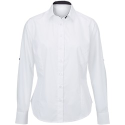 textil Dame Skjorter / Skjortebluser Alexandra AX060 White/ Black