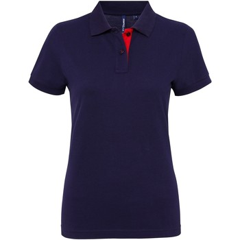 textil Dame Polo-t-shirts m. korte ærmer Asquith & Fox Contrast Navy/ Red