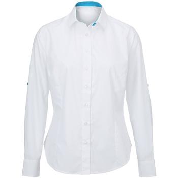 textil Dame Skjorter / Skjortebluser Alexandra AX060 White/ Peacock