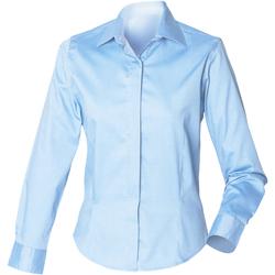 textil Dame Skjorter / Skjortebluser Henbury HB551 Light Blue