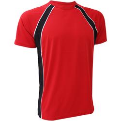 textil Herre T-shirts m. korte ærmer Finden & Hales LV250 Red/Black/White