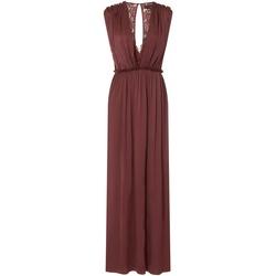 textil Dame Lange kjoler Little Mistress Sateen Burnt Ochre