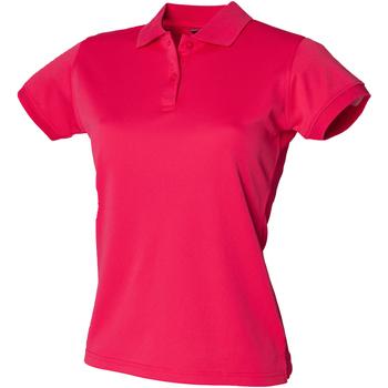 textil Dame Polo-t-shirts m. korte ærmer Henbury Coolplus Bright Pink
