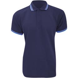 textil Herre Polo-t-shirts m. korte ærmer Kustom Kit KK409 Navy/Light Blue