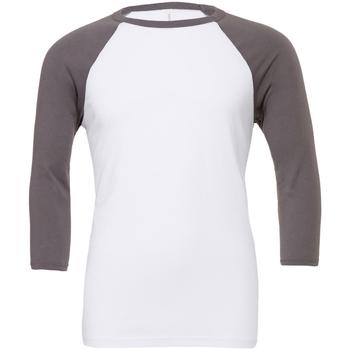 textil Herre Langærmede T-shirts Bella + Canvas CA3200 White/Asphalt