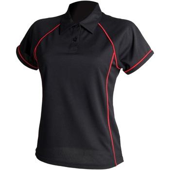 textil Dame Polo-t-shirts m. korte ærmer Finden & Hales LV371 Black/Red