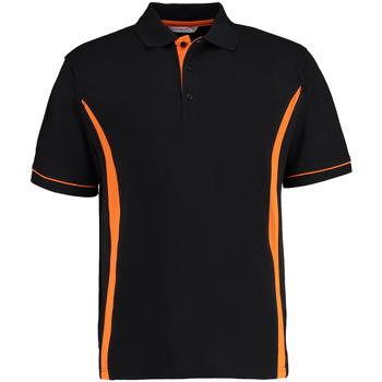 textil Herre Polo-t-shirts m. korte ærmer Kustom Kit Scottsdale Black/Orange