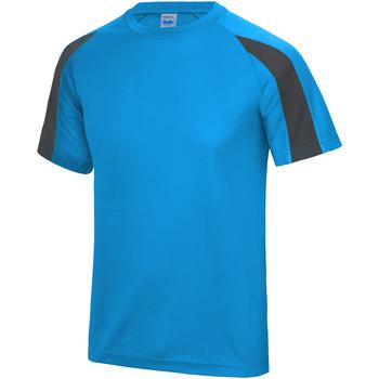 textil Herre T-shirts m. korte ærmer Just Cool JC003 Sapphire Blue/ Charcoal