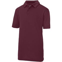 textil Børn Polo-t-shirts m. korte ærmer Just Cool  Burgundy