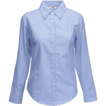 textil Dame Skjorter / Skjortebluser Fruit Of The Loom 65002 Oxford Blue