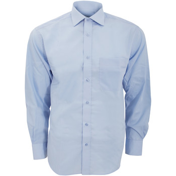 textil Herre Skjorter m. lange ærmer Kustom Kit KK116 Light Blue