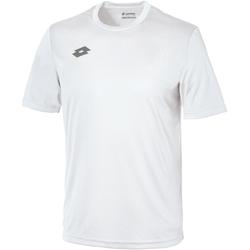 textil Børn T-shirts m. korte ærmer Lotto LT26B White/Pewter