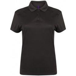 textil Dame Polo-t-shirts m. korte ærmer Henbury HB461 Dark Grey