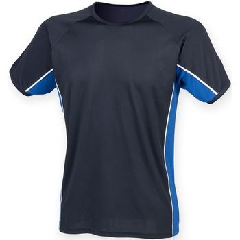 textil Herre T-shirts m. korte ærmer Finden & Hales LV240 Navy/ Royal/ White