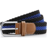 Accessories Herre Bælter Asquith & Fox Two Colour Stripe Black/Royal