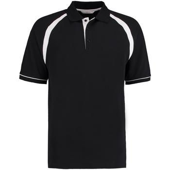 textil Herre Polo-t-shirts m. korte ærmer Kustom Kit KK615 Black/White
