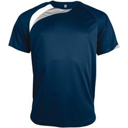 textil Herre T-shirts m. korte ærmer Kariban Proact PA436 Navy/ White/ Storm Grey