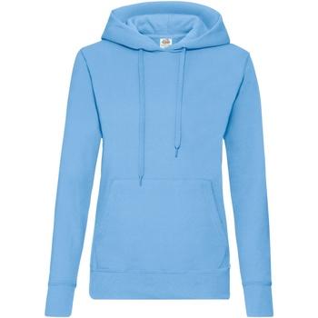 textil Dame Sweatshirts Fruit Of The Loom 62038 Sky Blue