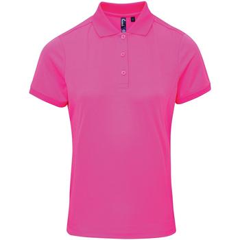 textil Dame Polo-t-shirts m. korte ærmer Premier PR616 Neon Pink