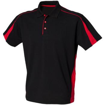 textil Herre Polo-t-shirts m. korte ærmer Finden & Hales LV390 Black/Red
