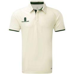 textil Herre Polo-t-shirts m. korte ærmer Surridge SU013 White/Green Trim