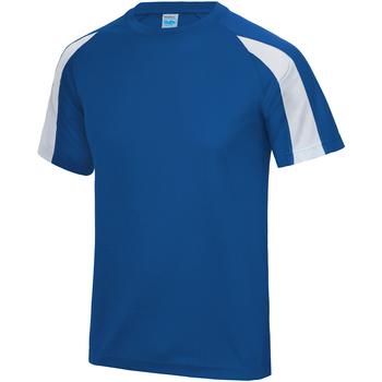 textil Herre T-shirts m. korte ærmer Just Cool JC003 Royal Blue/ Arctic White