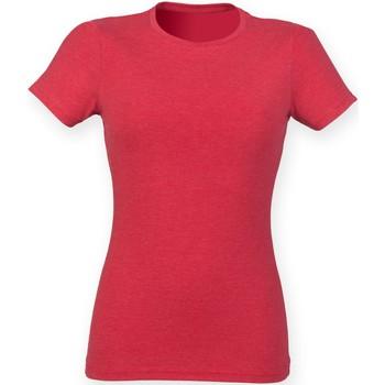 textil Dame T-shirts m. korte ærmer Skinni Fit SK161 Red Triblend