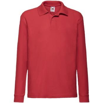 Polo-t-shirts m. lange ærmer Fruit Of The Loom  63201