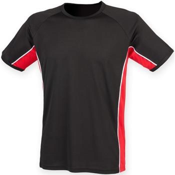 textil Herre T-shirts m. korte ærmer Finden & Hales LV240 Black/ Red/ White