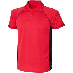 textil Herre Polo-t-shirts m. korte ærmer Finden & Hales LV310 Red/Black