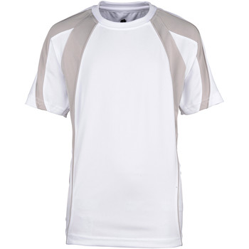 textil Dreng T-shirts m. korte ærmer Rhino RH40B White/Grey