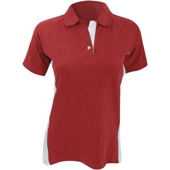 textil Dame Polo-t-shirts m. korte ærmer Finden & Hales LV323 Red/White