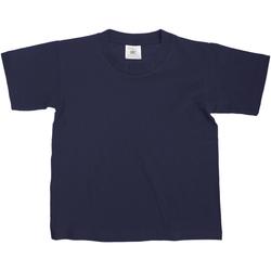 textil Børn T-shirts m. korte ærmer B And C Exact Navy Blue