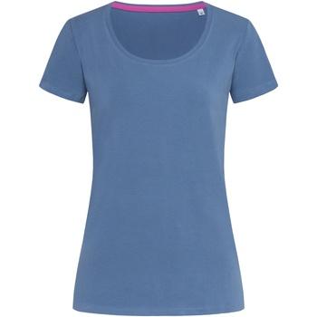 textil Dame T-shirts m. korte ærmer Stedman Stars  Denim Blue