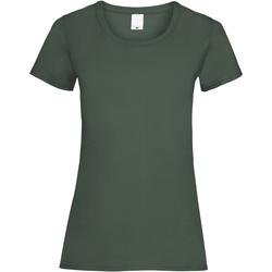 textil Dame T-shirts m. korte ærmer Universal Textiles 61372 Dark Green