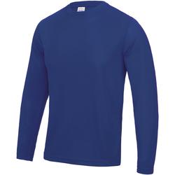 textil Herre Langærmede T-shirts Awdis JC002 Royal Blue
