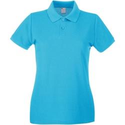 textil Dame Polo-t-shirts m. korte ærmer Universal Textiles 63030 Cyan