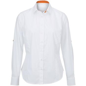 textil Dame Skjorter / Skjortebluser Alexandra AX060 White/ Orange